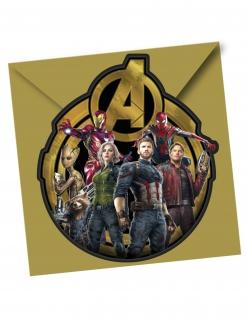 Avengers Infinity War™ Einladungen 6 Stück bunt