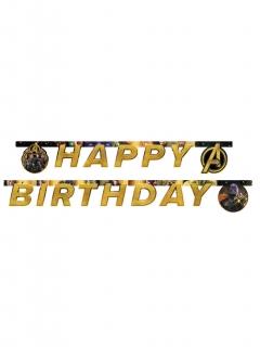 Avengers™-Geburtstagsgirlande schwarz-gold 2 m