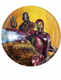 Avengers Infinity War™ Partyteller aus Pappkarton 8 Stück bunt 23 cm