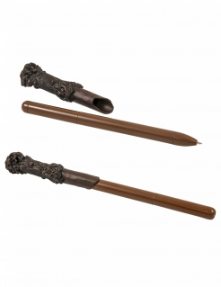 Harry Potter™-Zauberstab als Kugelschreiber mit Leuchtfunktion braun 23cm