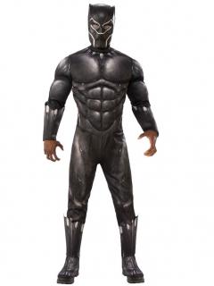 Black Panther™-Kostüm für Herren Lizenzkostüm schwarz