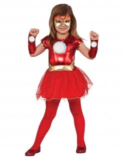 Iron Lady™-Lizenzkostüm für Mädchen rot-goldfarben-weiss