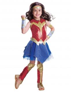 Wonder Woman™-Kostüm für Mädchen Halloween-Kostüm rot-blau-gold