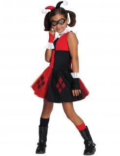 Harley Quinn™ Kostüm für Mädchen schwarz-rot