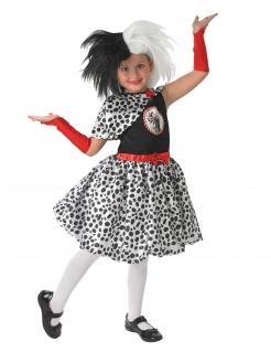 Cruella™-Kinderperücke Disney™ schwarz-weiss