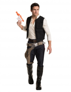 Han Solo™-Luxuskostüm Star Wars™ schwarz-weiss-braun