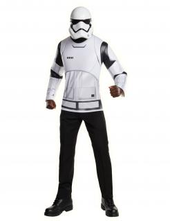Stormtrooper™-Kostüm T-Shirt und Maske weiss-schwarz