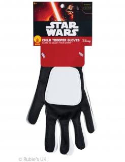 Stormtrooper™-Handschuhe für Kinder Star Wars™ schwarz-weiss