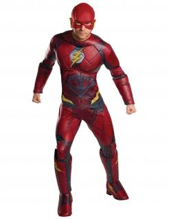 Flash™-Luxuskostüm für Erwachsene rot-gelb-schwarz