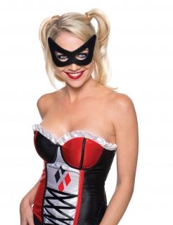 Harley Quinn™-Augenmaske Kostümaccessoire Lizenzartikel Suicide Squad™ schwarz