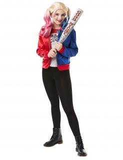 Suicide Squad™ Harley Quinn-Kostüm für Jugendliche blau-rot-weiss
