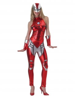 Iron Girl™-Damenkostüm Marvel™ rot-silber