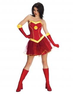 Iron Girl™-Kostüm für Damen rot-gelb