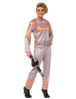 Ghostbusters™-Kostüm für Damen Halloweenkostüm beige-orange