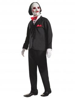 Saw™-Kostüm Billy Halloweenkostüm schwarz-weiss-rot