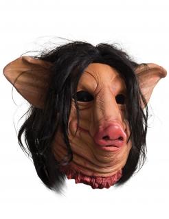 Schweine-Maske Saw™ Halloween-Maske rosa-schwarz