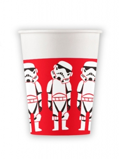 Star Wars™ Becher 8 Stück weiss-rot-schwarz 260ml