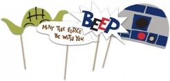 Lustiges Star Wars™ Fotozubehör-Set 6-teilig bunt
