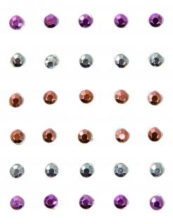 Schmuckstein-Set für Gesicht und Körper 30 Stück bunt 2mm