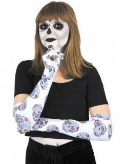 Dia de los Muertos Handschuhe für Erwachsene bunt