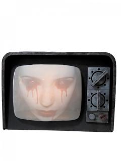 Heimgesuchter Retro-TV mit Sound und Licht schwarz-grau 12 x 31 x 21 cm