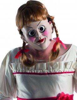 Horrorfilm-Maske Annabelle™ Halloween-Maske hautfarben-blond
