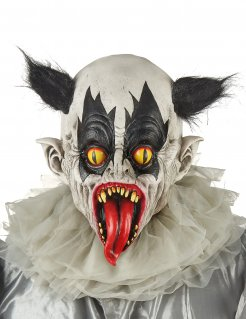 Zombieclown-Horrormaske für Erwachsene bunt