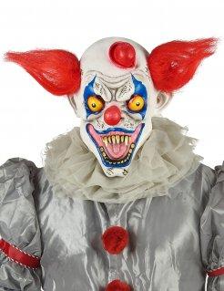 Horrorclown-Halloweenmaske für Erwachsene bunt