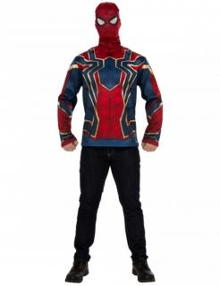 Iron Spider™-Shirt und Maske Marvel™-Kostüm rot-blau-gold