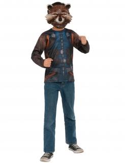 Rocket Raccoon™-Lizenzkostüm für Erwachsene blau-braun