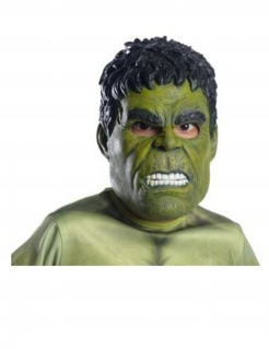 Hulk™ Dreiviertel-Maske von Avengers: Infinity War™ für Erwachsene grün-schwarz-weiss