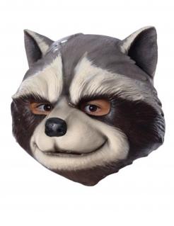 Rocket Racoon™-Lizenzmaske für Erwachsene schwarz-weiss-grau