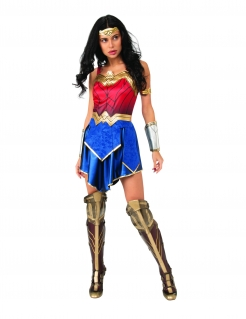 Wonder Woman™-Damenkostüm blau-rot-goldfarben