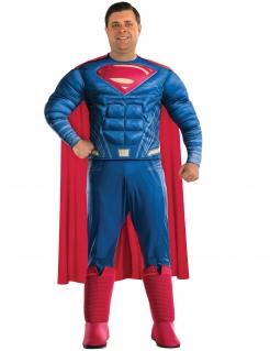 Superman™-Kostüm für Herren Übergröße Halloweenkostüm blau-rot