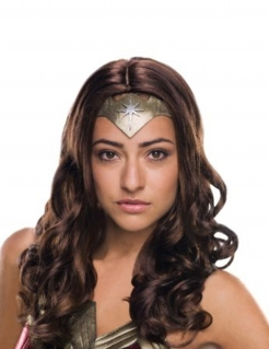 Deluxe Wonder Woman™-Perücke für Damen braun
