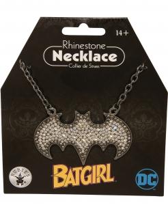 Batgirl™-Halskette mit Strassteinen schwarz-silber