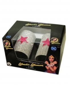 Wonder Woman™ glitzernde Armbänder silber-rot