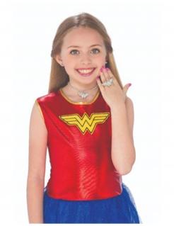 Wonder Woman™-Kinderschmuck 3-teilig silberfarben