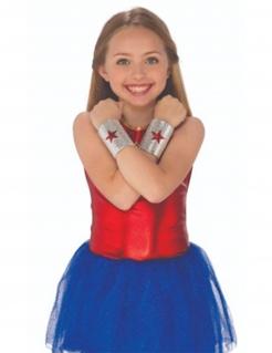 Wonder Woman™-Mädchenarmbänder silberfarben-rot