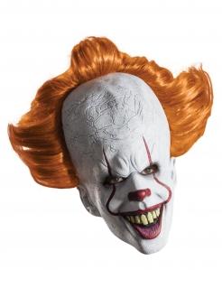 Offizielle Pennywise™-Maske Es™-Filmmaske weiss-orange