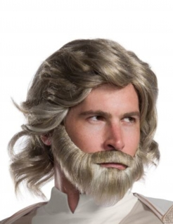 Luke Skywalker™- Perücke und Bart blond-grau
