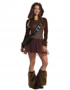 Klassisches Chewbacca™ Damenkostüm braun-schwarz