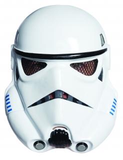 Stormtrooper Star Wars™ Maske für Erwachsene schwarz-weiss-blau