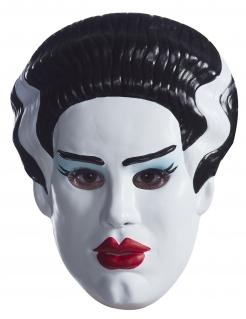 Frankensteins Monster™ Verlobtenmaske für Damen schwarz-weiss-rot