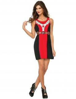 Deadpool™-Damenkleid schwarz-rot-weiss