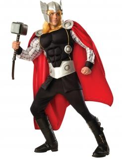 Thor™-Deluxekostüm für Herren Halloween schwarz-silber-rot