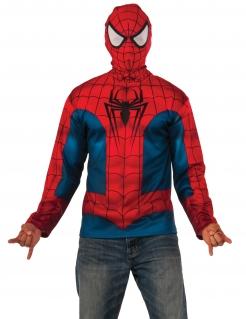Spider-Man™ Kapuzen-Sweatshirt rot-blau-schwarz