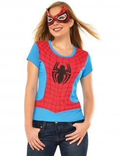 Spider-Girl™-Damenkostüm blau-rot-schwarz