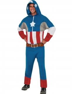 Captain America™-Lizenzkostüm mit Kapuze bunt