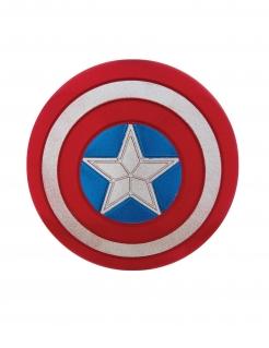 Captain America™ glitzerndes Schild rot-weiss-blau 30cm